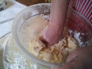 Mix the dough